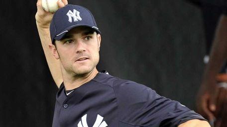 Yankees reliever David Robertson throws in the bullpen