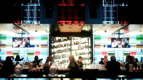 The bar at Monsoon Asian Kitchen and Lounge