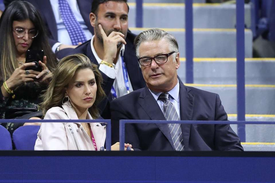 Hilaria and Alec Baldwin attend the Women's Singles