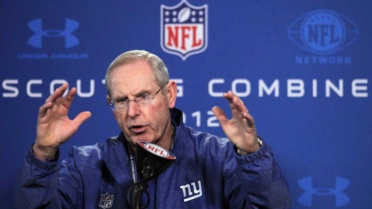 New York Giants head coach Tom Coughlin speaks