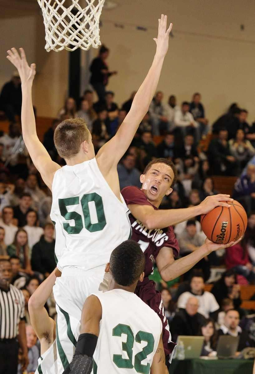 Deer Park's Aaren Edmead shoots past William Floyd's
