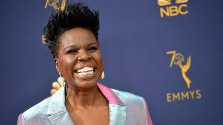 Leslie Jones attends the 70th Emmy Awards on