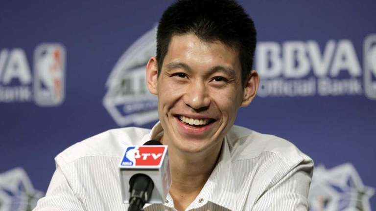 Knicks' Jeremy Lin appears for a media availability