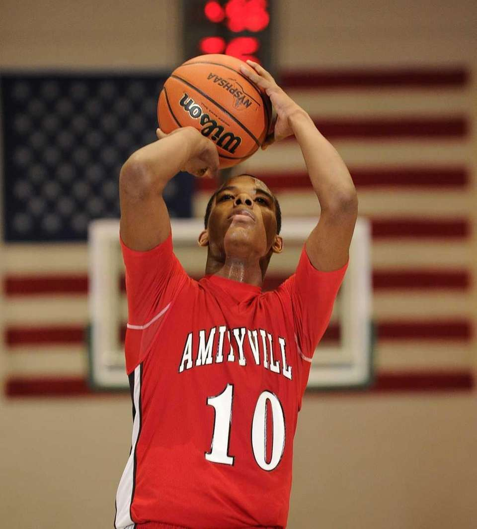 Amityville's David Seymour shoots a free throw against