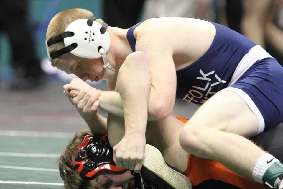Connetquot's Sean McCabe puts the squeeze on during