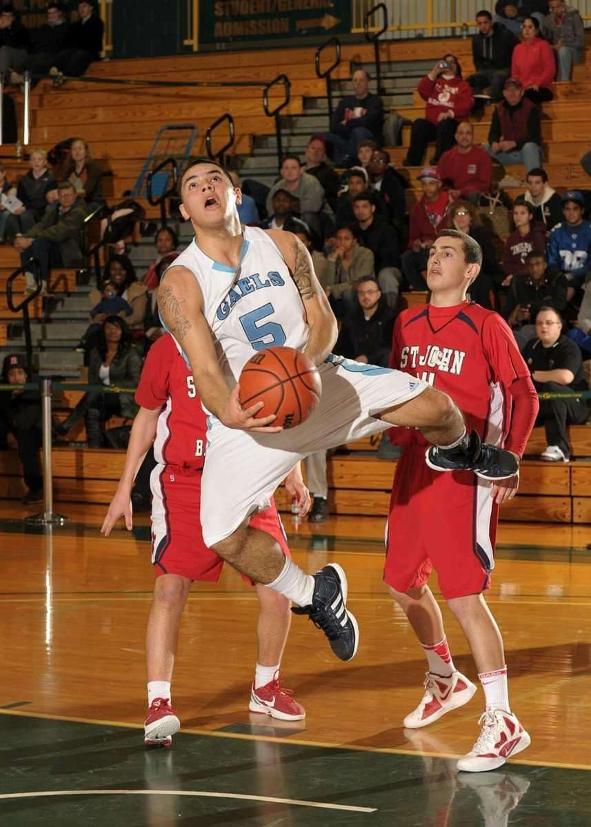 St. Mary's Wilson Molina is fouled during an