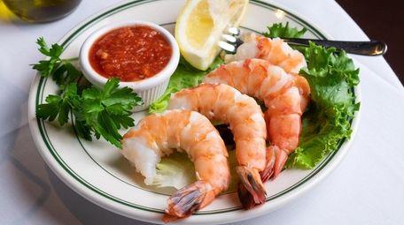 The shrimp cocktail is a steakhouse staple, a