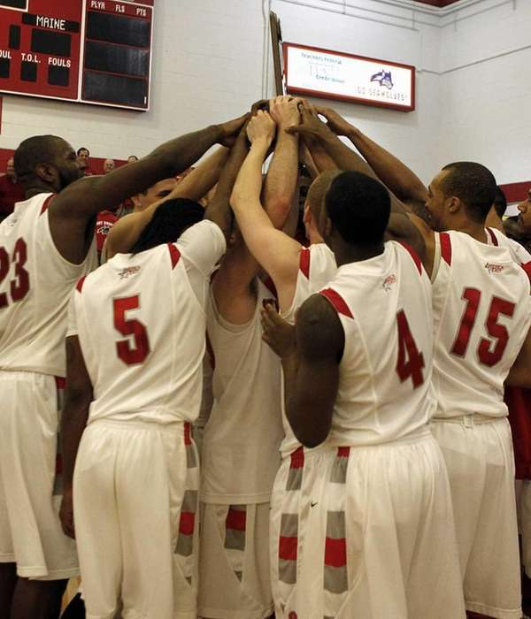 Members of the Stony Brook mens basketball team