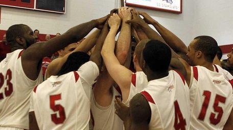 Members of the Stony Brook mens basketball team