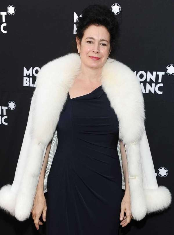 Sean Young arrives at the Montblanc Pre-Oscar brunch