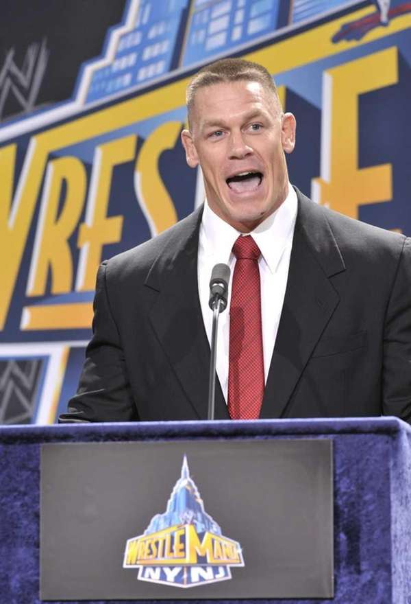 John Cena attends a press conference to announce