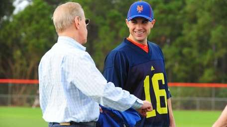 Mets owner Fred Wilpon and David Wright share