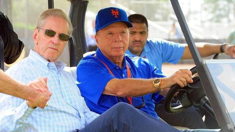 Mets owner Fred Wilpon and Mets co-owner Saul