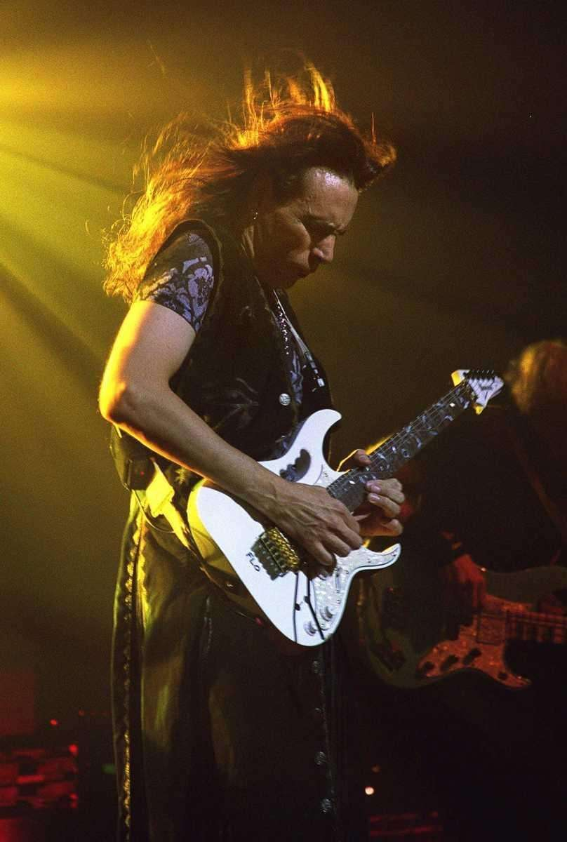 Guitarist Steve Vai, hired by Frank Zappa to