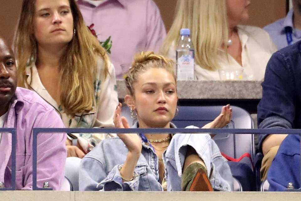 Gigi Hadid watches Serena Williams and Catherine Mcnally
