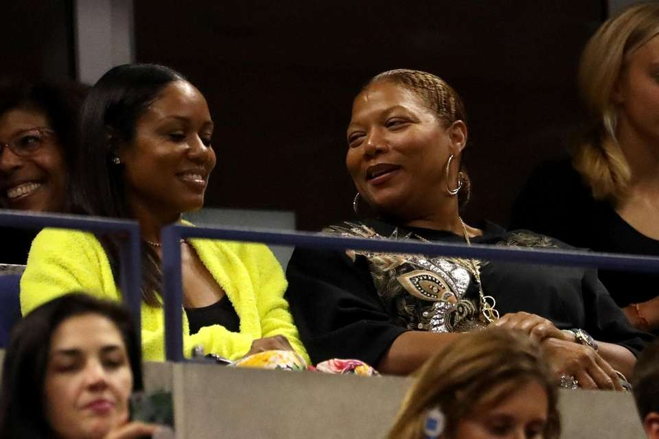 Queen Latifah attends the Novak Djokovic vs. Juan