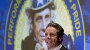New York Gov. Andrew Cuomo speaks to the