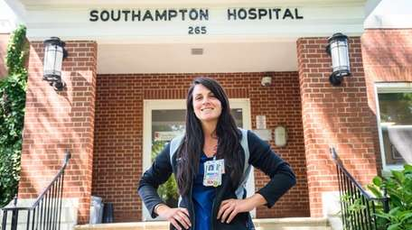 Samantha Warasila, a charge nurse at Stony Brook