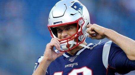 Tom Brady of the New England Patriots before