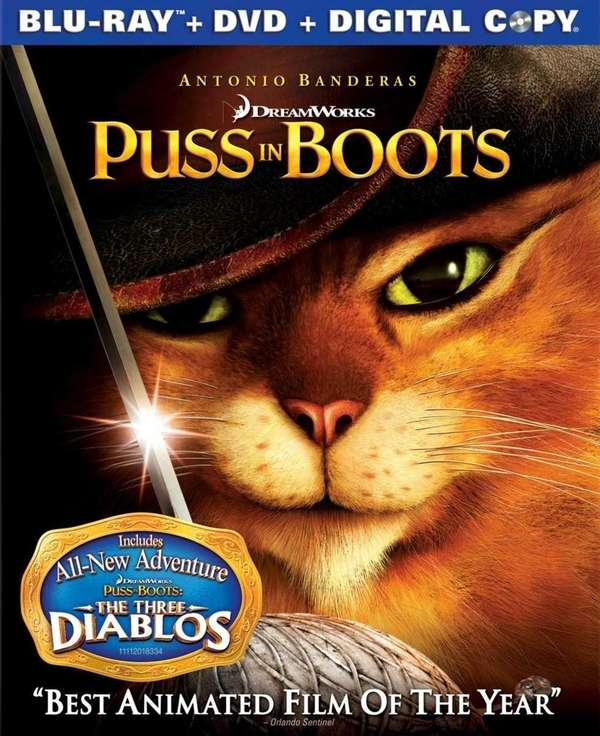 quot;Puss in Bootsquot; (PG, 90 minutes, DreamWorks) is
