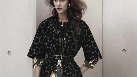 Dress, $99; coat, $129; and belt, $9.95; Marni