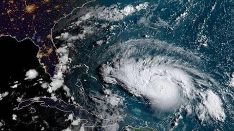 A satellite image taken Friday morning of Hurricane