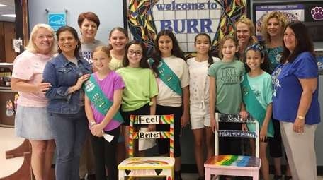 In Commack, Girl Scouts in Junior Troop 255