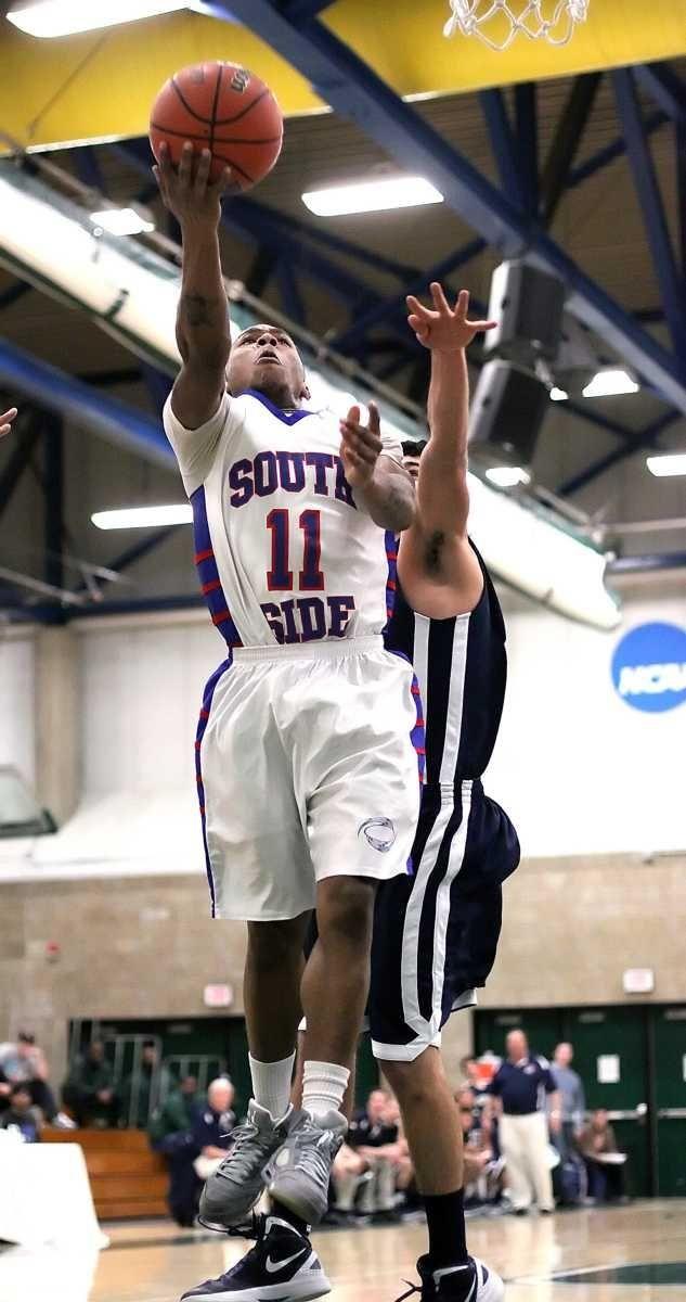 South Side's Darren Nickelson shoots. (Feb. 28, 2012)