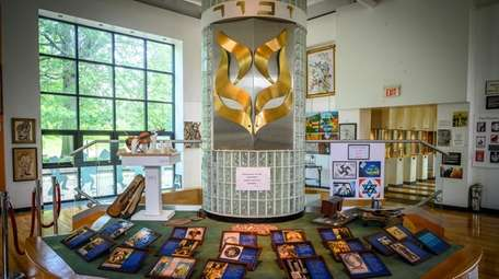 The exhibit in the Holocaust Resource Center at