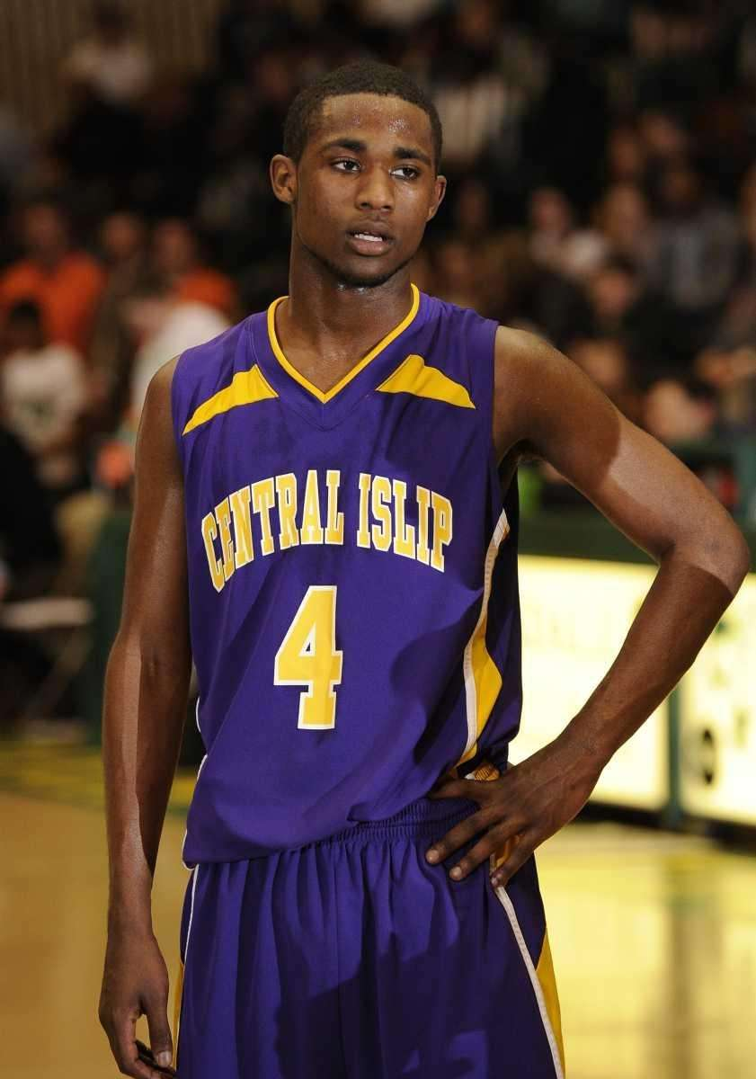 Central Islip's Ishiah Booker follows game action against