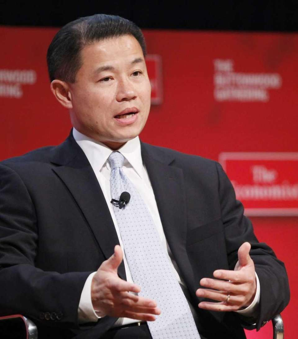 New York City Comptroller John Liu speaks at