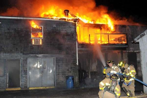 Suffolk County police said the fire at the