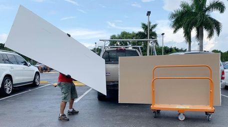Shoppers prepare ahead of Hurricane Dorian at The