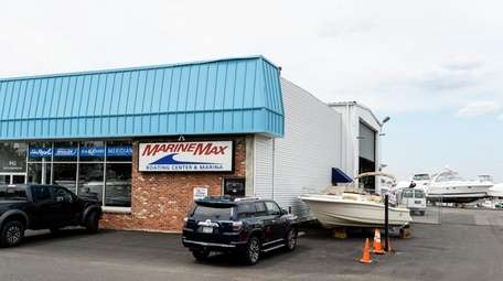 MarineMax's location in Lindenhurst, seen here on May