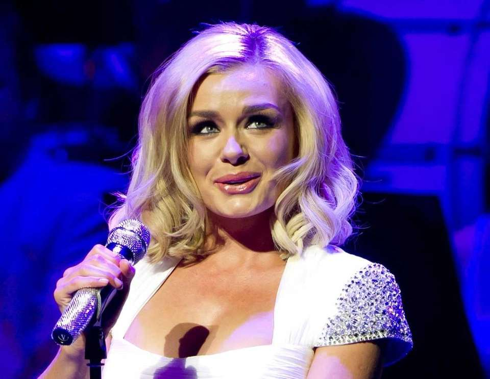 British singer, Katherine Jenkins performs at the New