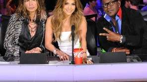 Steven Tyler, Jennifer Lopez and Randy Jackson on
