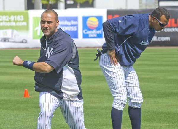 Yankees shortstop Derek Jeter, left, and third baseman