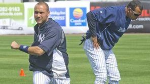 Yankees shortstop Derek Jeter, left, and third baseman