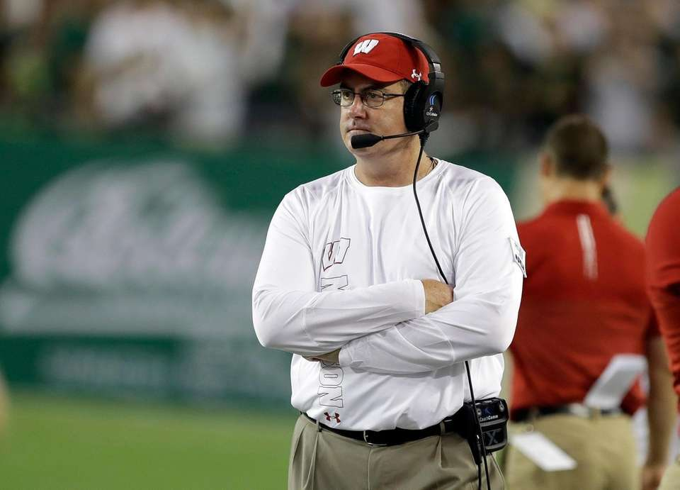 Wisconsin coach Paul Chryst watches his team play