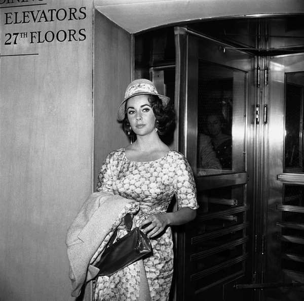 Elizabeth Taylor is shown as she arrived at