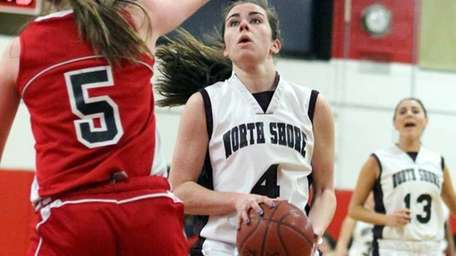 North Shore's Erin Sheerin gets close coverage by