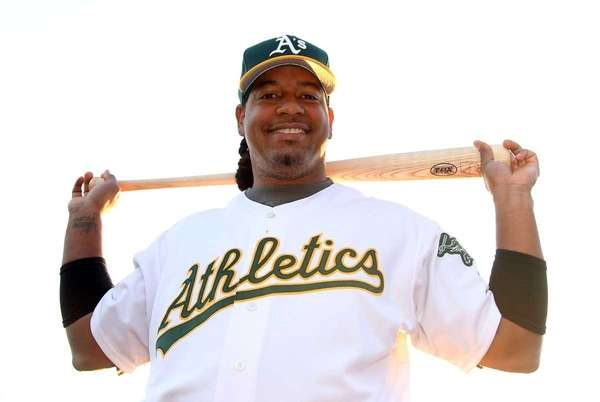 Manny Ramirez of the Oakland Athletics poses for