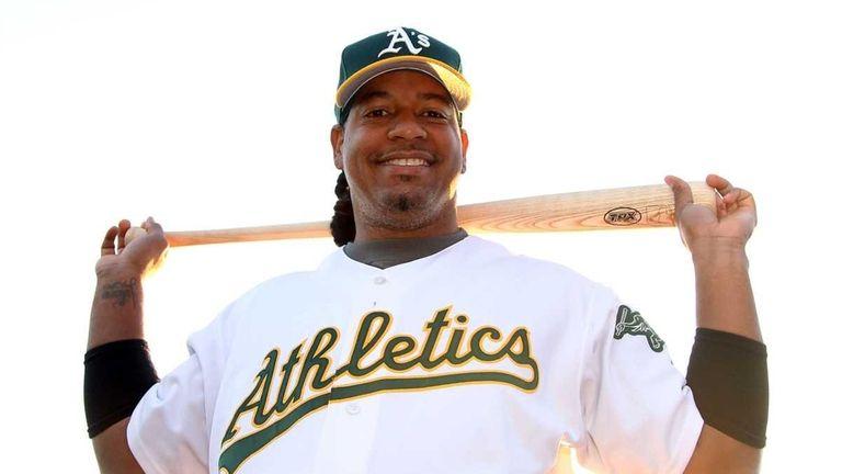 Manny Ramirez of the Oakland Athletics poses for