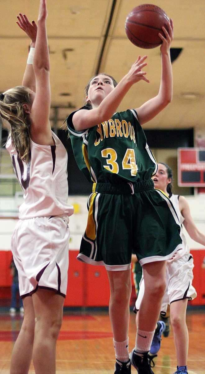 Lynbrook's Ciara Gordon tries for an inside shot.