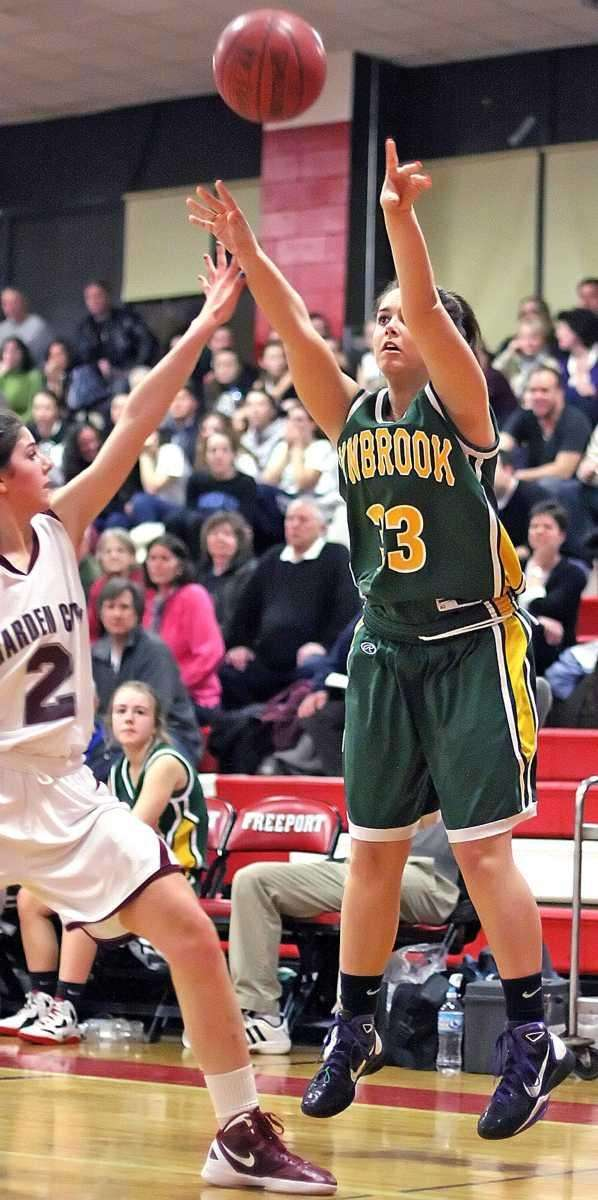 Lynbrook's Amanda Coughlin shoots a three-pointer. (Feb. 29,