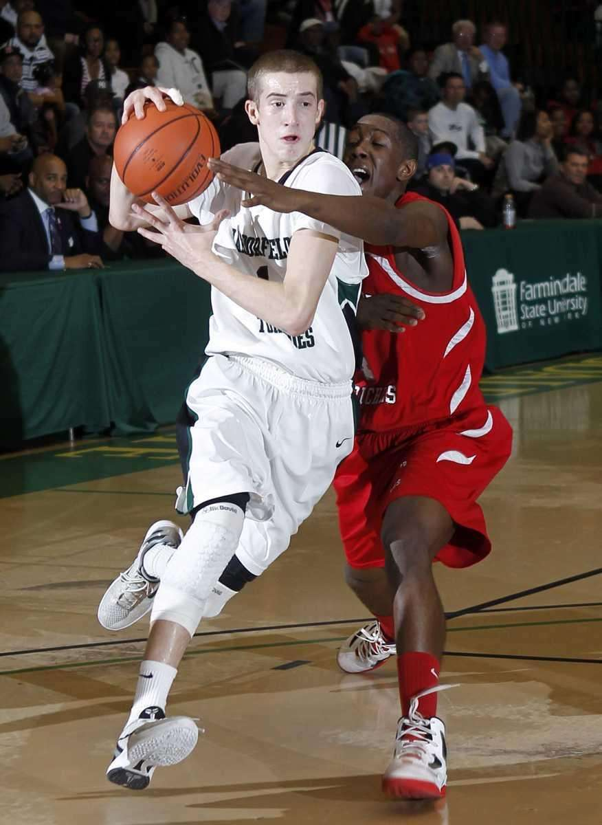 Harborfields' Lucas Woodhouse (1) drives against against Center