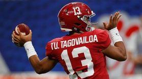 Tua Tagovailoa #13 of the Alabama Crimson Tide