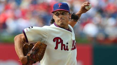 Pitcher Jason Vargas #44 of the Philadelphia Phillies