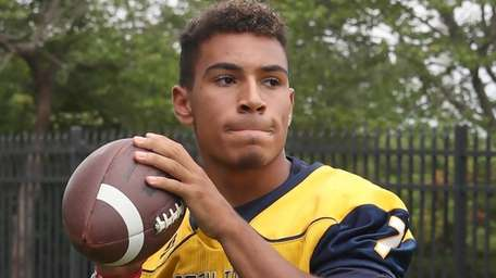 Xavier Arline of Shoreham-Wading River poses during the
