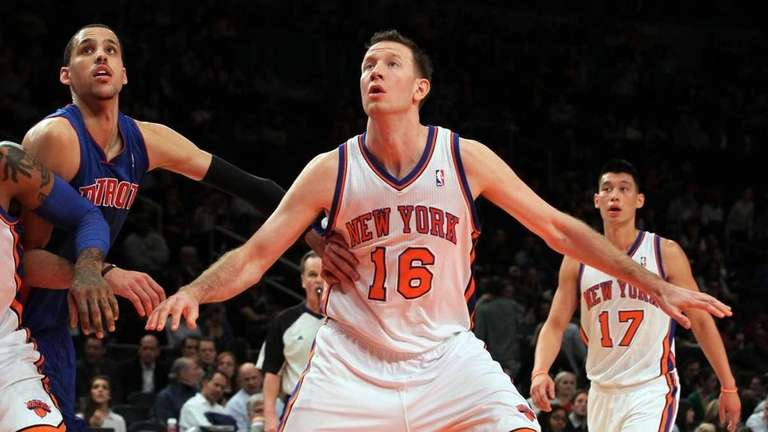 Steve Novak of the New York Knicks in